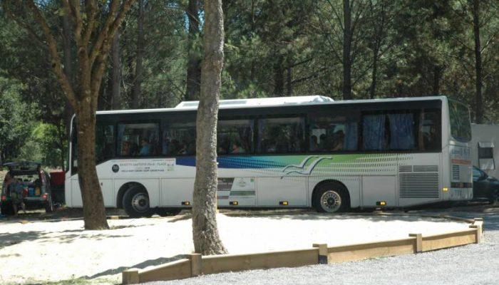 Bus navette camping landes