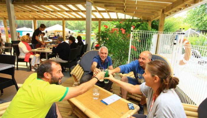 retrouvaille parents Camping Landes