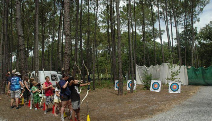 tir a l arc au camping Océane